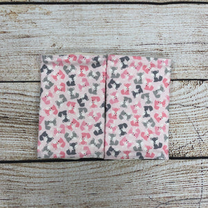 Fox Pink & Grey Carrier Pads