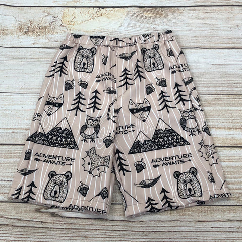 Adventure Awaits Brown Swim Trunks