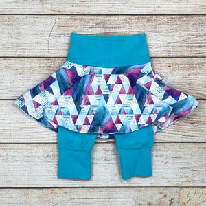 Painted Pyramid Twirl Shorts