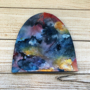 Watercolour Galaxy Slouchy Hat / Toque