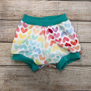 Rainbow Watercolour Hearts Bloomers
