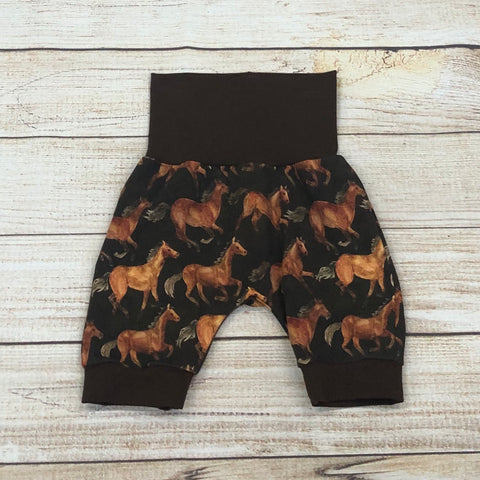 Watercolour Horses Bunny Bottom Shorts