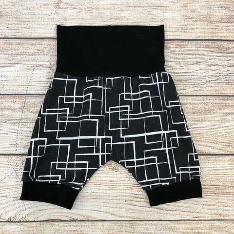 Abstract Boxes Bunny Bottom Shorts 9m-3 year