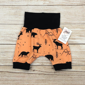 Wild Mountain Tangerine Bunny Bottom Shorts