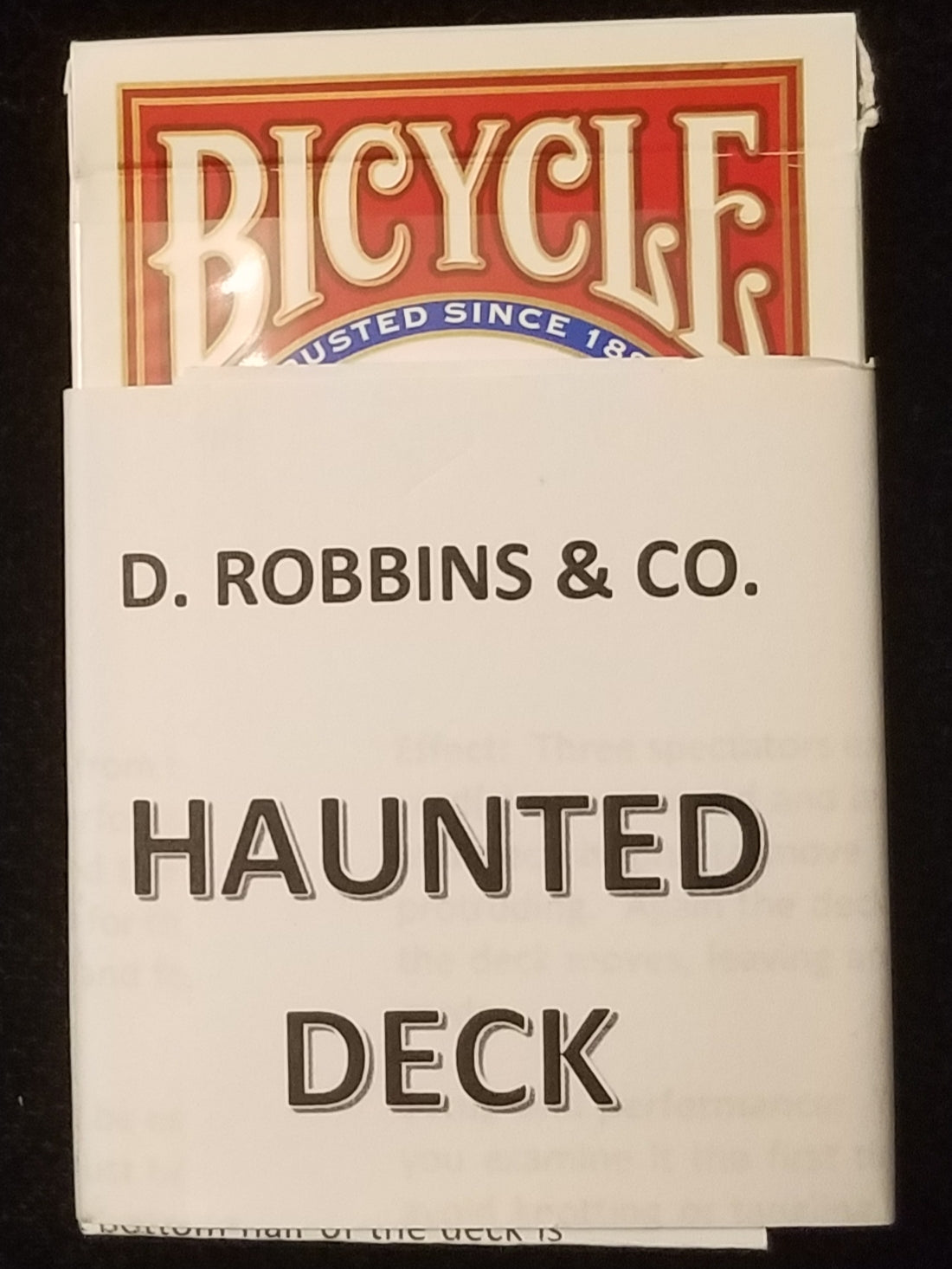 Haunted Deck Bicycle Poker (E-Z) - Red backed
