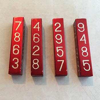 Mental Calculation Logs --anodized aluminum -