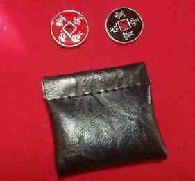 Grandpa's coin purse -includes purse, coins and routine new