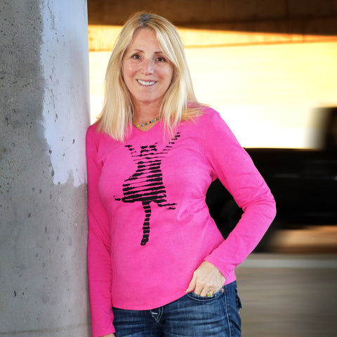 "Ladies ""Fe_Lines"" Fuchsia Frost Perfect Tri Hoodie"