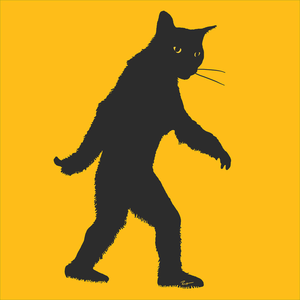 "District Made Unisex VIP ""Catsquatch"" Charcoal Tee - Skinny Pete's Gourmet Catnip"