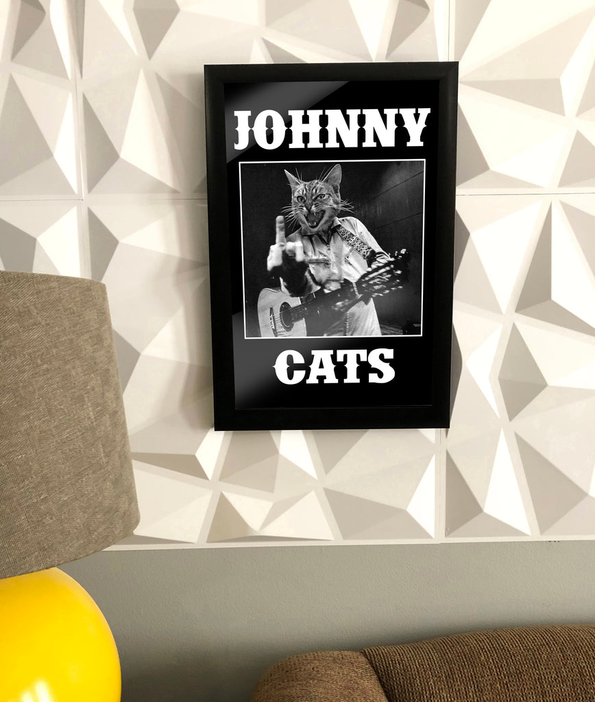 "Poster, ""Johnny Cats"" - Skinny Pete's Gourmet Catnip"