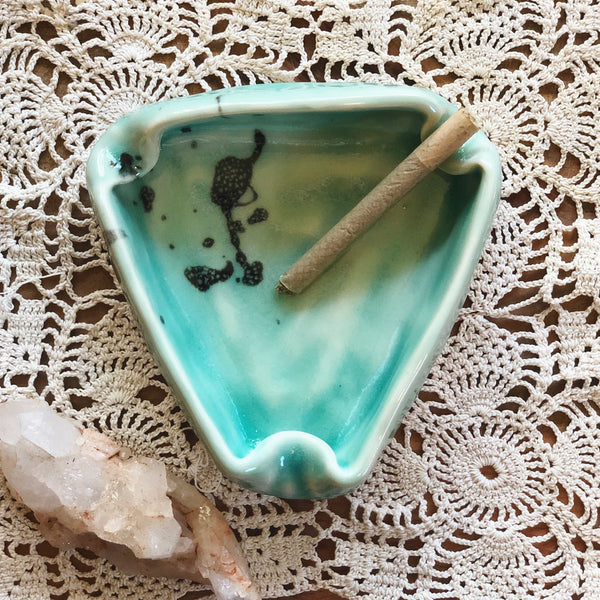 'Mint Chip' Handmade Ceramic Ashtray