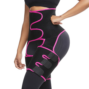 Woman Neoprene Sweat Body Shaper Legs Shaper Slimming Control Fat Shapewear Women's Support Belt Legs Slimmer Reduce Wraps