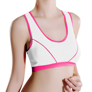 Women Sports Yoga Athletic Solid Wrap Chest Strap Vest Tops Bra Running Bra | FajasShapewear.com