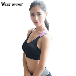 WEST BIKING Womens Yoga Bras Push Up Sports Bra Gym Running Padded Bras Athletic Vest Sportswear Underwear Yoga Sports Bras
