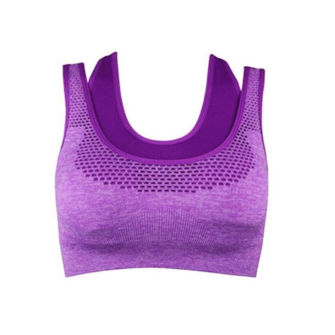 Women Sport Gym Yoga Workout Bra Running Padded Fitness Tops Vest Hot BK L