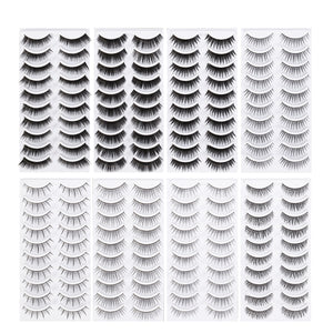 80 Pairs Natural Fake Eyelashes 8-Style Thick Long Eye Lashes for Women | FajasShapewear.com