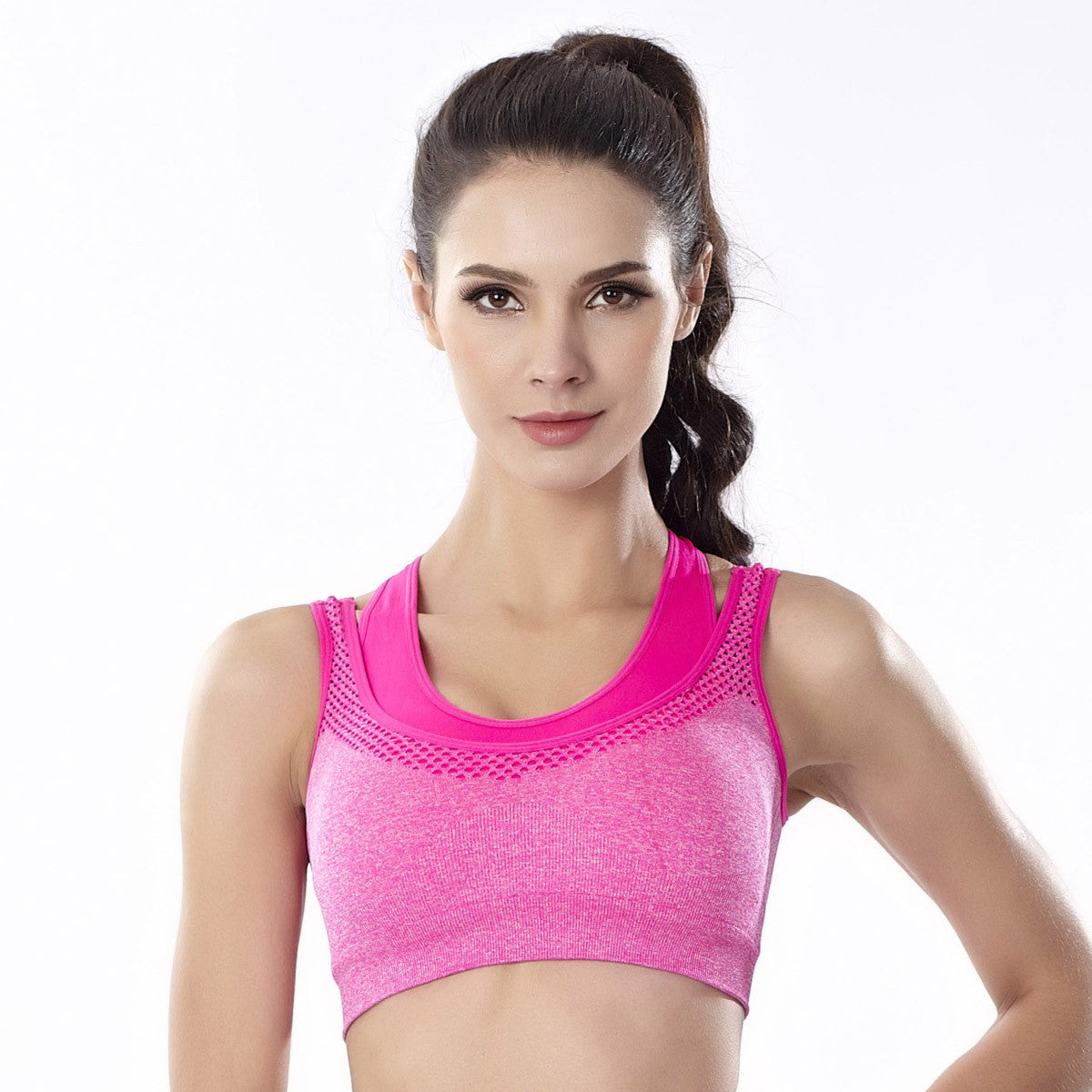 Sports Yoga Bra Padded Seamless High Impact Support Vest for Workout Fitness |  FajasShapewear.com