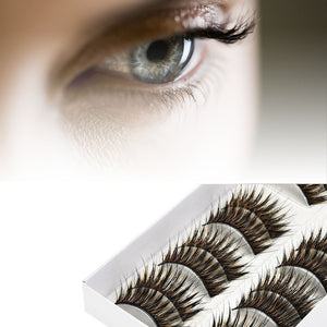 10 Pairs Thick Long Cross Party False Eyelashes Multicolor Fake Eye Lashes | FajasShapewear.com