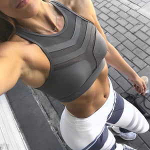 New Women Yo-ga Workout Vest Crop Tops Shapewear Tanks