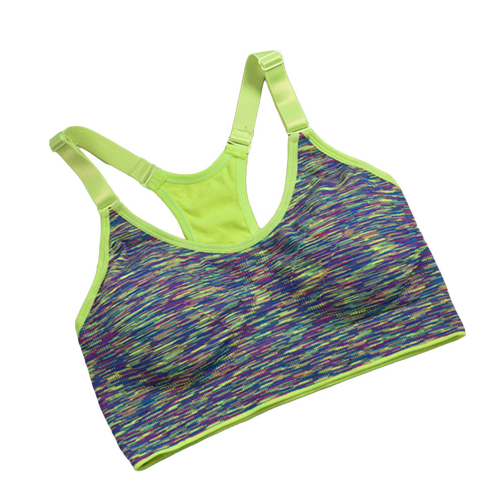 High Intensity Sports Bra. Seamless Wirefree Stretchy Breathable Removable Pads for Fitness, Gym. Yoga, Running | FajasShapewear.com