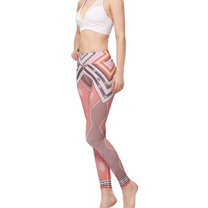 Women's Yoga Pants Digital Printed High Waist Long Sports Workout Gym Leggings Trousers