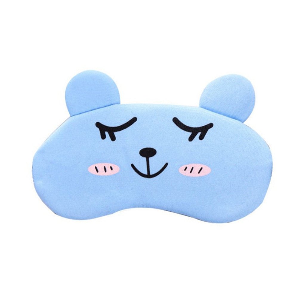 Soft Cute Sleep Eye Mask Cover Cooling Eyeshade Blindfold for Sleep Nap Meditation
