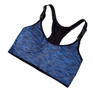 Women Fitness Yoga Sports Bra For Running Gym Adjustable Spaghetti Straps