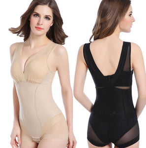 Lady Slimming Burn Fat Briefs Shapewear Tummy Slim Bodysuit Full Body Shaper | FajasShapewear.com