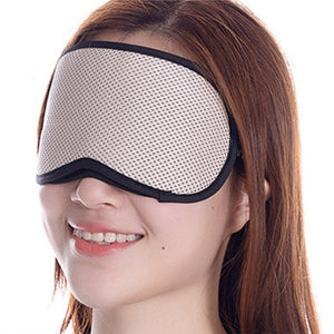 Sleeping Mask Sleep Blindfold Shade Bamboo Charcoal Eye Mask for for Nap Travel Light Block Comfortable (Beige)