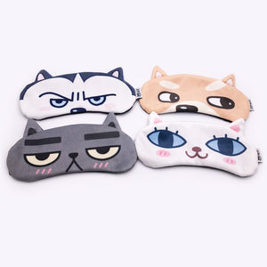 [2 PACK] MicroBird Cat&Dog Cute Sleep Eye Mask for sleeping, Super Soft and Light for Insomnia Puffy Eyes, Shift Work Blindfold Eyeshade for Men and Women kid