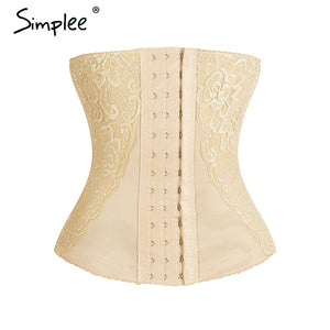 Simplee Waist Trainer Women Shapers Corset Lace Shaper Shapewear Slimming Suits Body Shapers Slimming Strap Slimming Shaper