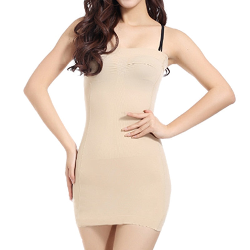 Women Slip Shapewear Under Dress Tube Slimming Body Shaper Extra Tummy Slimminer