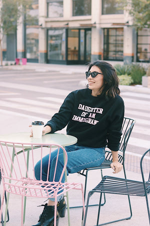 Classic Pink on Black Crew Neck Sweatshirt