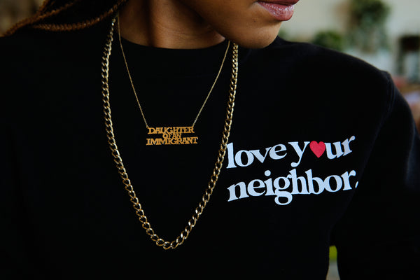 Love Your Neighbor Sweatshirt - Black