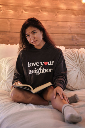 Love Your Neighbor Hoodie - Grey