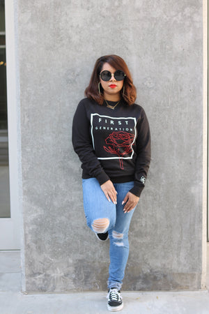 Black First Generation Sweater