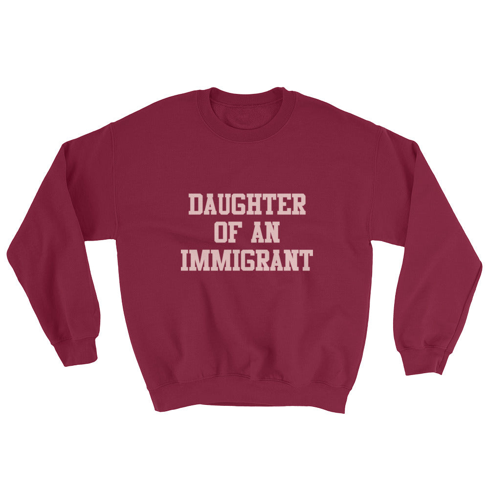 Classic Pink on Maroon Crew Neck Sweatshirt