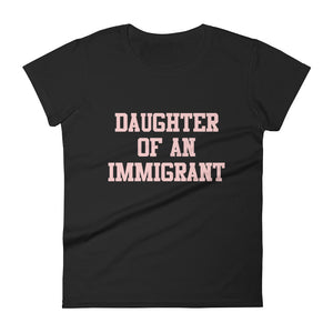 Classic Pink on Black Ladies Tee
