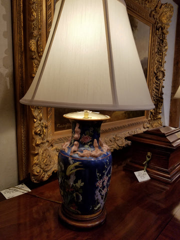 Handmade Clay decorative lamp from Mill House Antiques