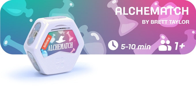 Alchematch is a 10-30 minute game for 1 or more players