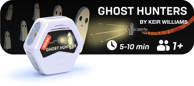 Ghost Hunters is a 10-30 minute game for 2 or more players