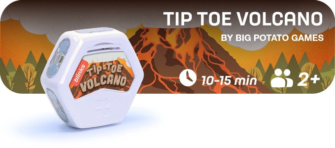 Tip-Toe Volcano a 15-30 minute game for 2 or more players