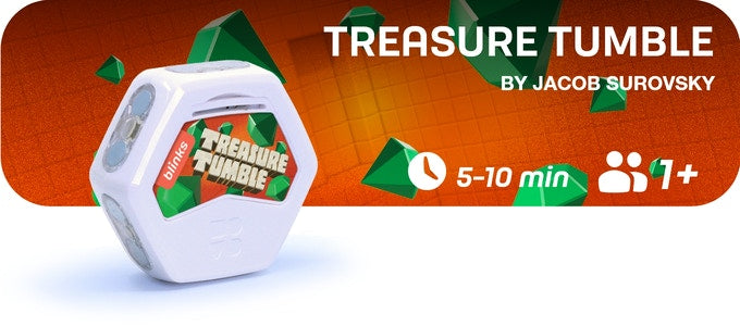 Treasure Tumble is a 5-15 minute game for 2 players