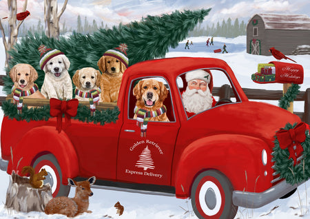 How Christmas Santa Express Delivery Red Truck Dogs Printed Gift and Accessories Can Add To Your Christmas Décor