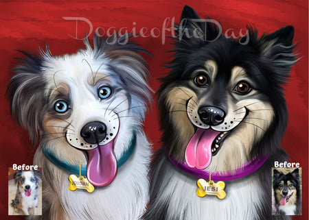 dog paintings