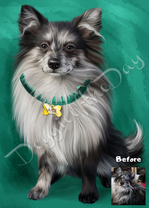 Digital Painting PERSONALIZED PET PORTRAIT! Custom Pet Dog or Cat Art