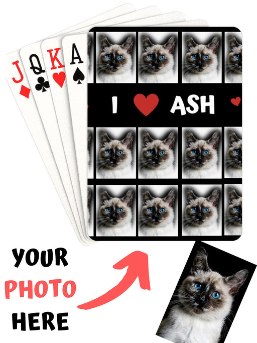 Add Your PERSONALIZED PET Photos on Playing Card Decks