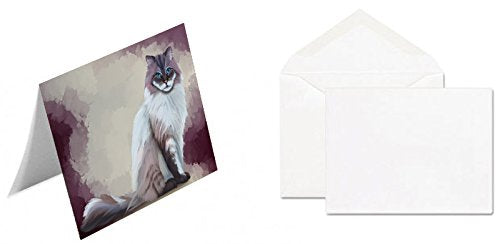 Seal Mitted Lynx Ragdoll Cat Greeting Card