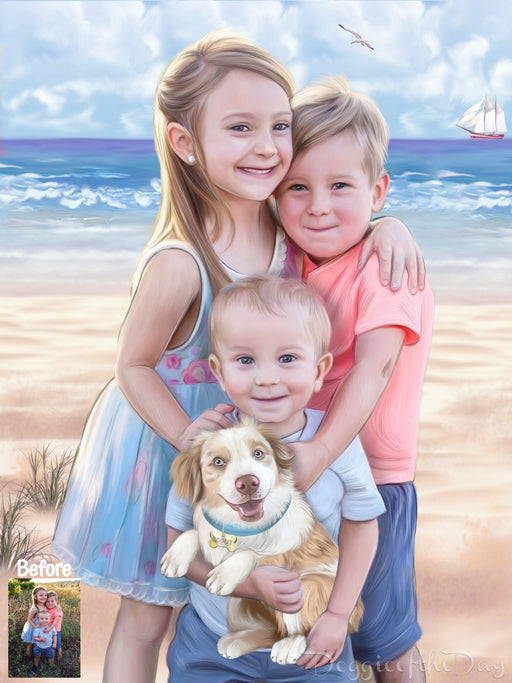 Human Digital Painting PERSONALIZED PET PORTRAIT! Custom Human Art