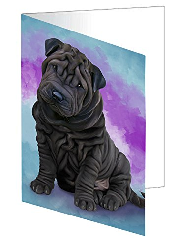 Shar Pei Dog Greeting Card